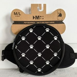 Dog Backpack Paw Print Fits Dogs 25-65lbs M/L 🆕